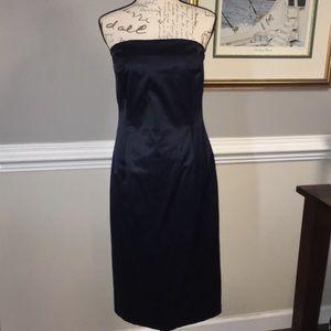 Isaac Mizrahi Dark Blue Strapless Midi dress Sz 8